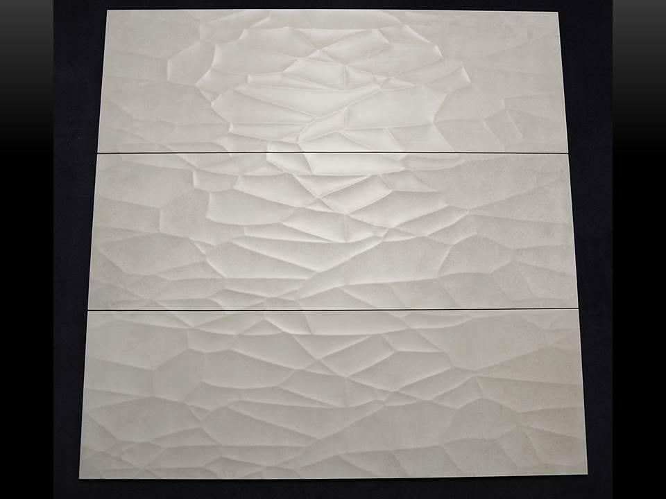 Wandfliese dekor cifre reaction ivory creme 30x90 cm i - Wandfliesen maueroptik ...