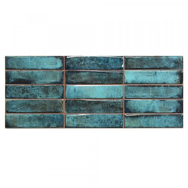 Wandfliese Schnittdekor Cifre Smart Montblanc Blue Blau 20x50 Cm I