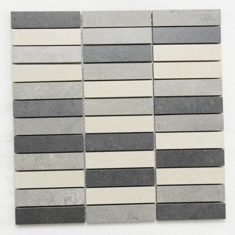 mosaik cifre nexus tesela mix grau anthrazit 30x30 cm i sorte betonoptik fliesenwelt. Black Bedroom Furniture Sets. Home Design Ideas