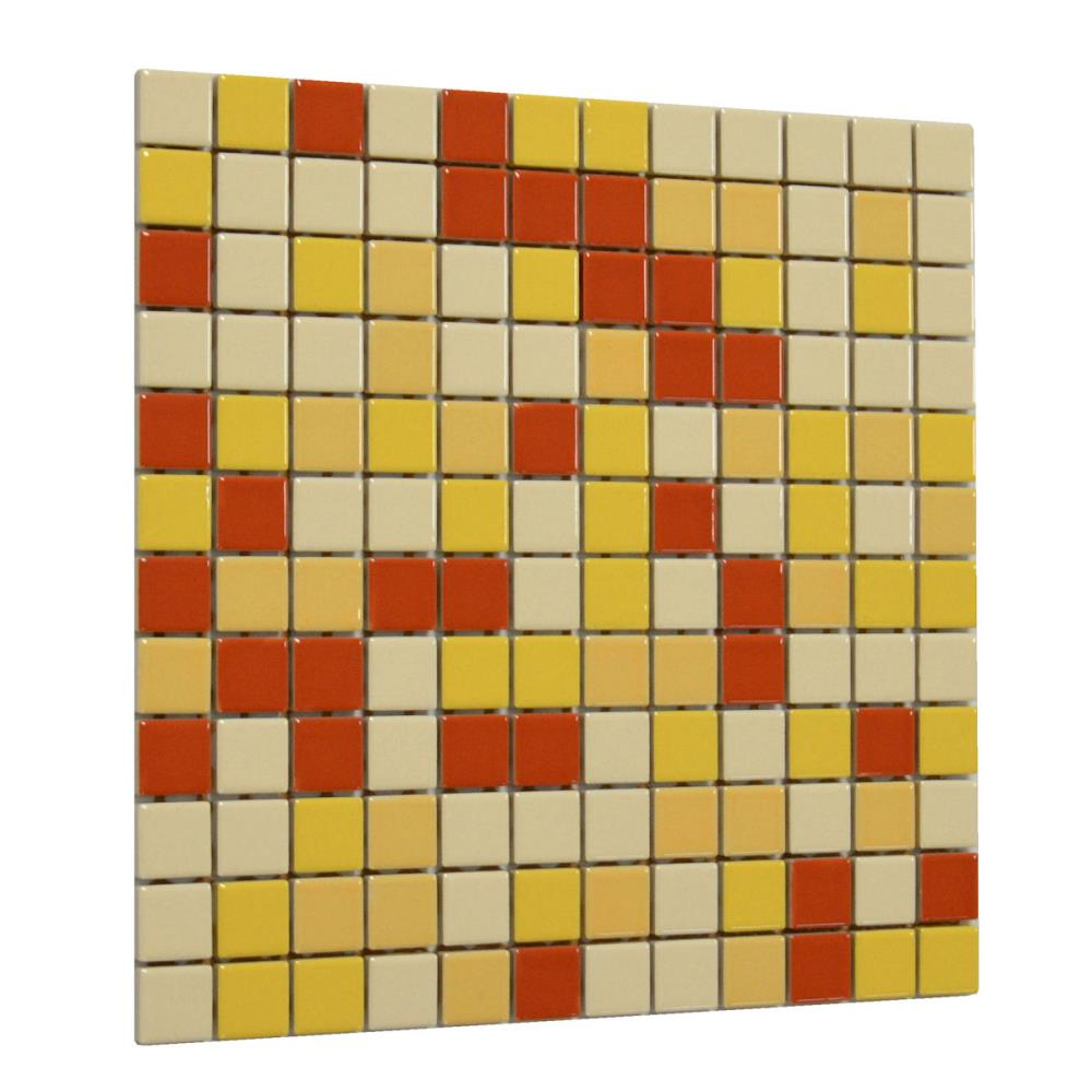 Mosaik Villeroy /& Boch Creative System 3752 CK74 creme gelb rot 30 x 30