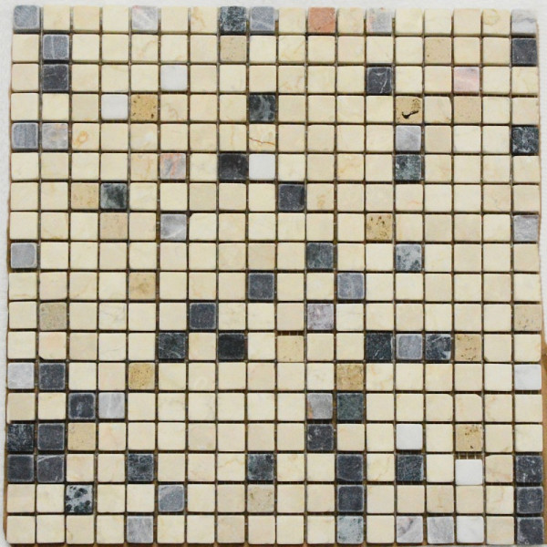 Mosaik Foredil Creme Anthrazit Grau Marmor 30x30 Cm