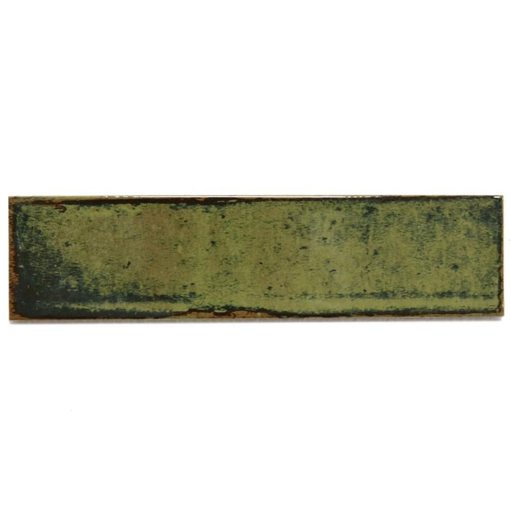 Wandfliese cifre alchima olive gr n 7 5x30 cm i sorte - Wandfliesen maueroptik ...